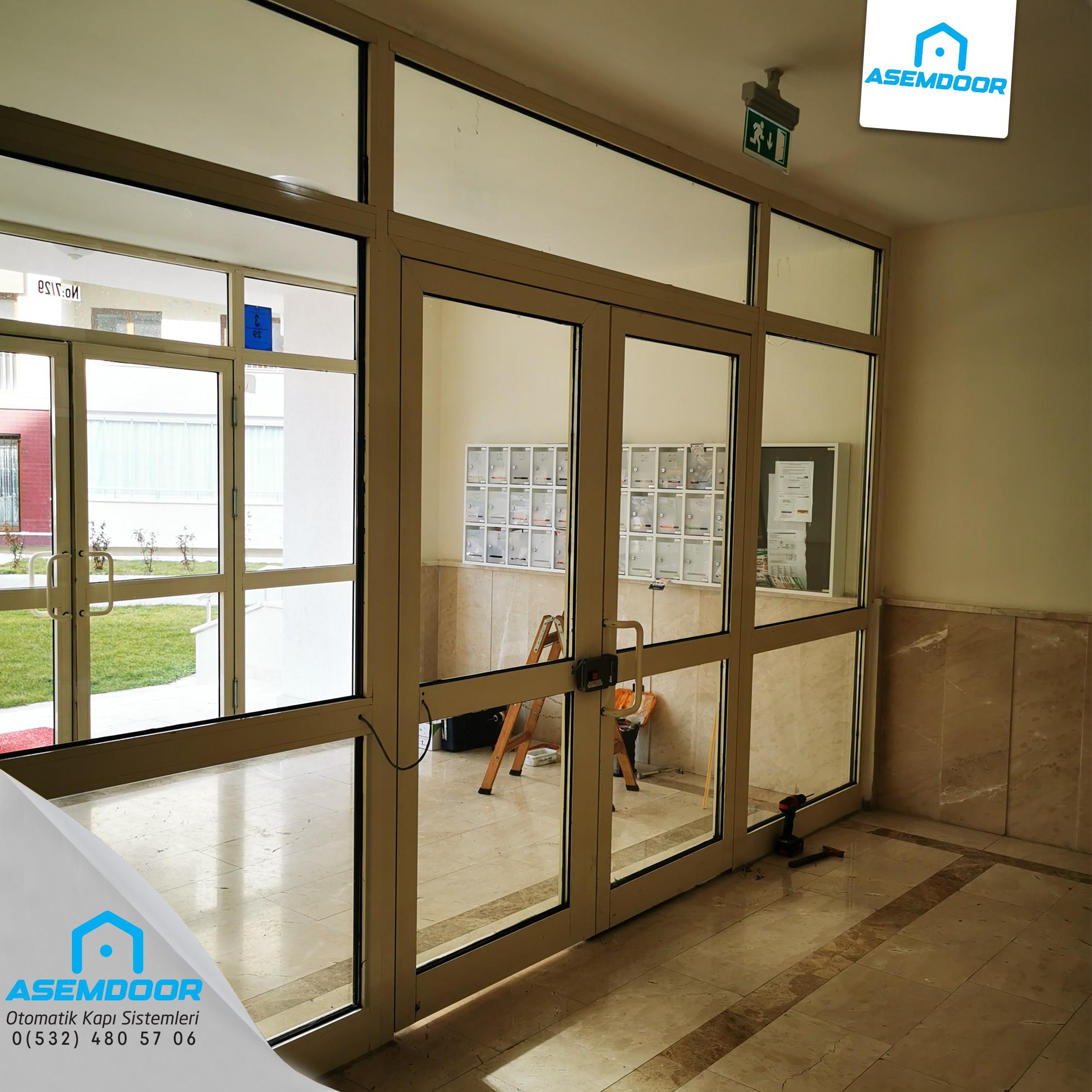 90 derece otomatik kapı sistemleri